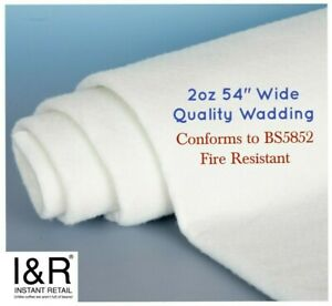 """Dacron 2oz EXTRA WIDE 54"""" Polyester Wadding Padding Quilt Batting Crafts Repair"""