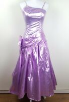 Vintage Union Made Pink Purple Spaghetti Strap Formal Prom Maxi Dress Size S
