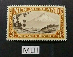 🦋 NEW ZEALAND - 1935  'Mount Taranaki  North Island' - 3/-  MINT LIGHTLY HINGED