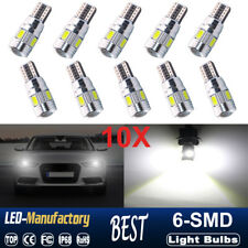 10X T10 501 194 W5W 5630 LED 6SMD White HID Canbus Error Free Wedge Light Bulb