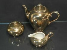 3tlg Set Bavaria Porzellan vergoldet Gold Kanne 0,7 L , Milchkännchen, Zuckerdos