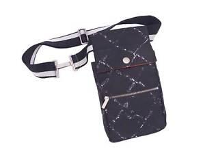 Auth CHANEL Travel Linr Waist Bag Bum Bag Black/Gray Nylon Jacquard - e46553f