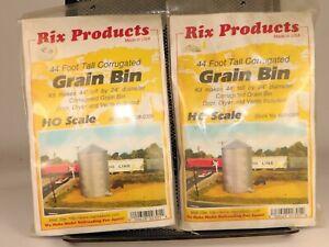 (2) Rix POroducts #628-0305 44' Grain Bins 1/87 HO Scale