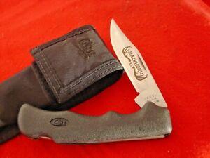 """Case USA made 4-5/8"""" BLACKHORN 3.5 2104L SAB SS Lockback Sheath knife MINT"""