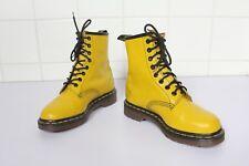 Vintage Dr.Martens Seltenes Boots Echtleder Gelb Eu:35,5-36-Uk:3 made in England