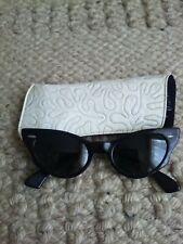 B&L Ray-Ban c.1950'S Bausch & Lomb Black Cat Eye Sunglasses Original case