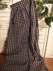 Primitive little house prairie bonnet tea stained apron homespun navy plaid
