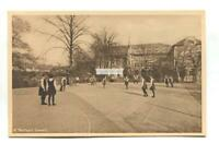 Unknown school netball court & girls - London publisher - old postcard