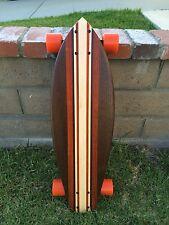 """Longboard made of Solid Wood - """"Tahoe"""" dark woods"""
