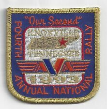 American Voyager Association Patch AVA Our Second Fourth Annual Rally 1993 Tenn
