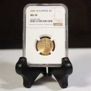 2001 W Capitol $5 Gold NGC MS70 ***Rev Tye's Stache*** #3004700