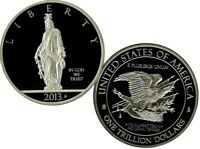 ONE TRILLION DOLLAR TRIAL COMMEMORATIVE COIN PROOF LUCKY MONEY VALUE $99.95