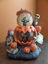 IDEO Disney Store Nightmare Before Christmas Halloween Pumpkin Music Snow Globe
