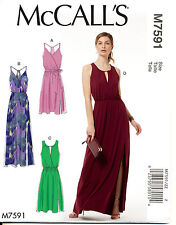 MCCALL'S SEWING PATTERN 7591 MISSES 16-26 MOCK WRAP DRESSES & MAXI IN PLUS SIZES