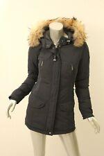 PARAJUMPERS Blue-Black Rita Fur-Trim Down Coat XS $898