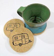 Scamp Camping Travel Trailer Cork Coasters. Casita Trailer. Burro Camper. Boler