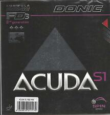 Donic Acuda S1 Rubber (Red, MAX MM)
