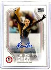 2018 Karen Chen Topps Olympic Figure Skater USA Autograph Card Signed AU 09/25