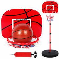 Children1.7m Mini Adjustable Basketball Indoor Outdoor Play Net Hoop Sets Sport