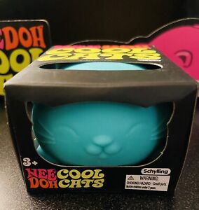 Nee Doh Cool Cats Teal Green Schylling Sensory Fidget Stress Relief Squeeze Toy