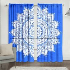 New Indian Cotton Ombre Mandala Tapestry Window Drape Hanging Door Curtains Set