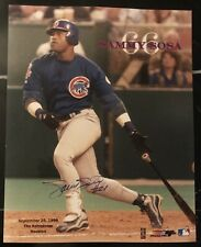 Sammy Sosa Chicago Cubs Signed Autographed 8x10 Photo