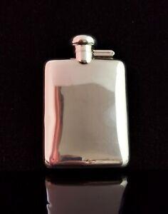 Vintage Art Deco sterling silver hip flask