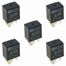 5 x 12V Micro Automotive Changeover Relay 30A 5-Pin Car Bike Van