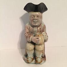 Antique Staffordshire Figure Longface Toby R. Wood Style Pearlware Glazes c1780