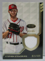 2018 Topps Tier One Baseball STEPHEN STRASBURG Game Used Relic Card # 015/335