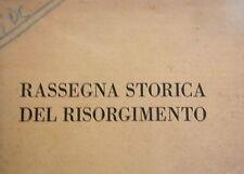 RASSEGNA STORICA DEL RISORGIMENTO Trevelyan Piovera Greenfield Perazzi Genova