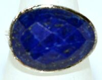 925 Sterling SILVER Rings Blue Lapis Ring Facet cut Gemstone Size 5½, L to 12, Y