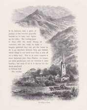 Flüelen Kanton Uri Schweiz HOLZSTICH um 1880 Urnersee