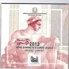 Euro ITALIA 2012 Folder Ufficiale 10 monete FDC