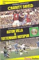 ASTON VILLA v TOTTENHAM HOTSPUR 1981 CHARITY SHIELD FOOTBALL PROGRAMME