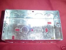 METAL BACK BOX  DOUBLE FOR COOKER SWITCHES 47mm DEEP