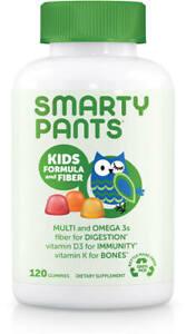 Smarty Pants - Kids Formula and Fiber Daily 120 Gummy Multivitamin US