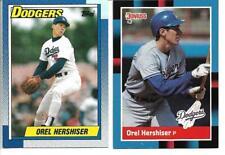 Orel Hershiser Lot of 2 Baseball Cards 1990 Topps 1988 Donruss