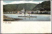 ST. GOAR Litho-AK um 1895/1900 Dampfschiff Schiff Rhein alte Ansichtskarte