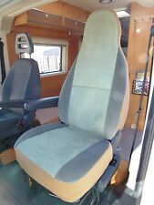 TO FIT A TALBOT EXPRESS MOTORHOME, SEAT COVERS, MINT GREEN VELOUR, 2 FRONTS