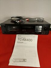 Sony TC-RX 400 Stereo Cassette Deck w/Manual TESTED