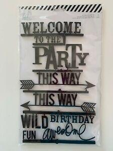Heidi Swapp Letterboard Party Kit Black