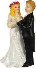 Wedding Cake Topper decoraciones tradicionales Resina novia y el novio de baile 12 Cm