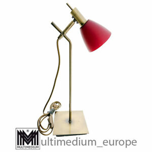 Rote vintage Glas Tischlampe Metall modern red glass table lamp metal 🌺🌺🌺🌺🌺