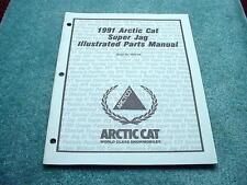 Arctic Cat 1991 Parts Manual Super Jag Snowmobile OEM #278
