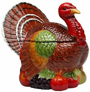 cosmos 10712 Gifts Turkey Design ceramic cookie Jar 1038Inch