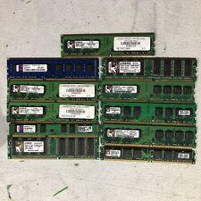 Pc Ram Memory Chips Kingston Lot Of 11