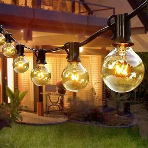 Außen Lichterkette G40 25x Birnen Strombetrieben Globe Glühbirnen Outdoor Garten