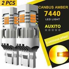 AUXITO 7440 Amber LED Turn Signal Lights No Hyper Flash Canbus Error Free 100W A