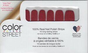 CS Nail Strips Cran-tastic 100% Nail Polish - USA Made!